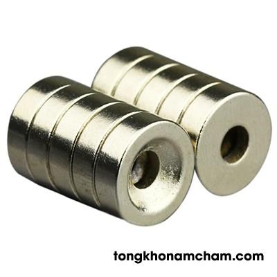 Nam châm đất hiếm 30x5 lỗ 13mm lỗ vát 18mm