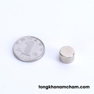 Nam châm đất hiếm hình tròn 8x5mm