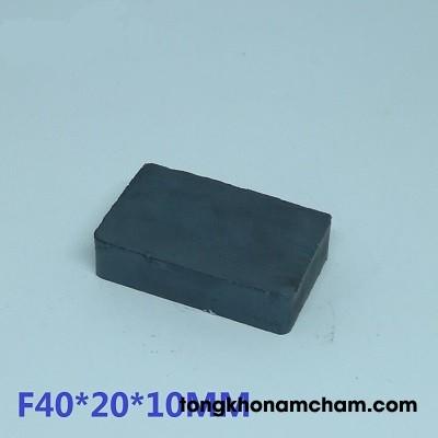 Nam châm ferrite 40x20x10mm