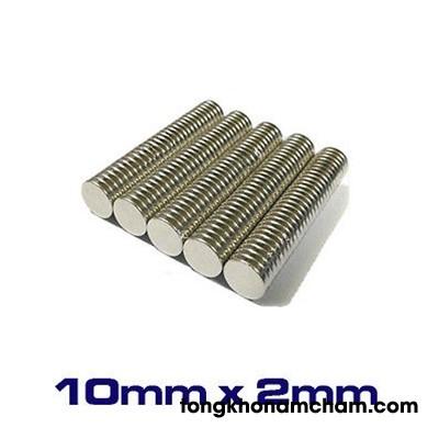 Nam châm viên trắng 10x2mm
