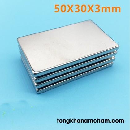 Nam châm viên trắng 50x30x3mm
